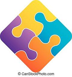 Colorful puzzle- corporate logo