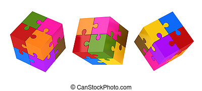 Colorful Puzzle Cubes
