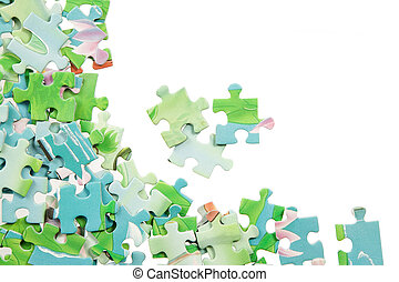 Colorful puzzle in various shapes