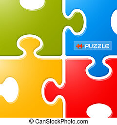 Colorful Puzzle Vector Background