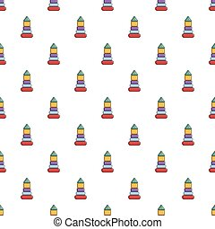 Colorful pyramid toy pattern