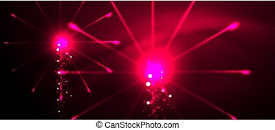 Colorful pyrotechnics show. Sky clouds. Black background....