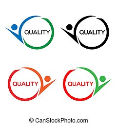 Colorful quality stock icon, flat design