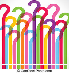 Colorful question mark background