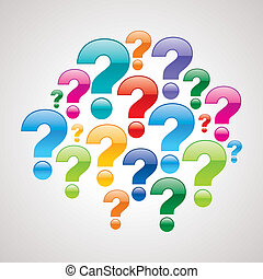 question mark with white background - colorful question mark...