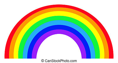 Colorful rainbow - Colorful Rainbow isolated on white...