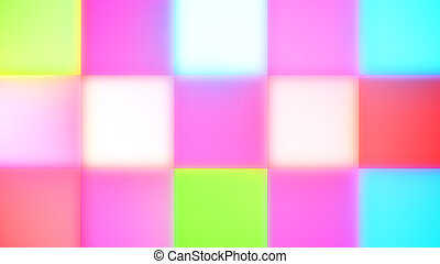 Colorful Rainbow Square Led Buttons