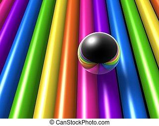 rainbow style ball