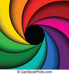 Colorful rainbow swirl, Abstract color background