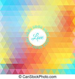 Colorful rainbow triangular background