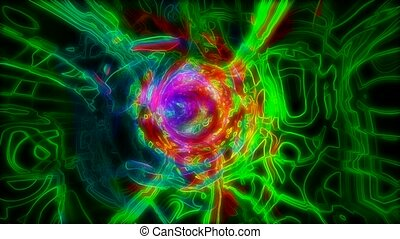 Colorful random light pattern