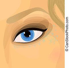 Colorful raster make up illustration