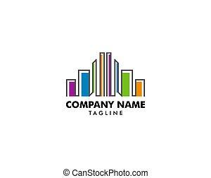 Colorful real estate buildings logo template