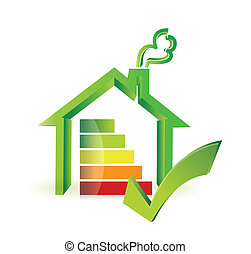 colorful real estate house graph chart