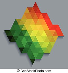 Colorful rectangle diamond shape wallpaper