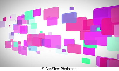 Background of colorful rectangle moving