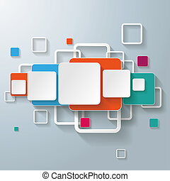 Colorful Rectangles Squares Design Line - Infographic design...