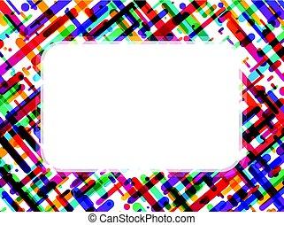 Colorful rectangular background on white.