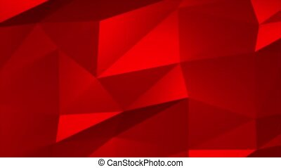 Colorful Red color geometric rumpled triangular low poly style gradient loop graphic background. Polygonal design for business, Corporate Business Presentation, interview, music, Slideshow, Event.