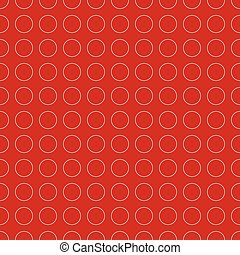 Colorful repeatable circle pattern. Vector art, illustration