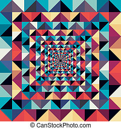 Colorful retro abstract visual effect seamless pattern. -...