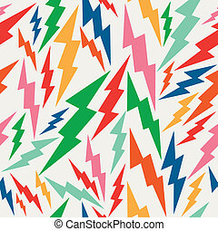 Vintage hipsters, lightning bolts seamless pattern background. Vector file layered for easy editing.