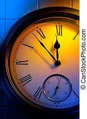 Colorful retro clock