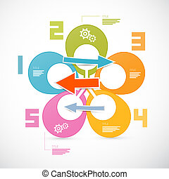 Colorful Retro Infographics Web Layout