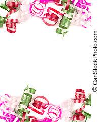 colorful ribbon borders