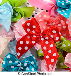 colorful ribbon bows