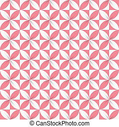 Colorful Ribbon Flower Seamless Pattern
