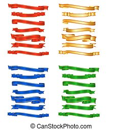 Colorful Ribbon - illustration of set of ribbon in different...