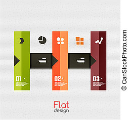 Colorful ribbon infographic - option banners