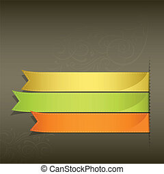 Colorful ribbon projects design