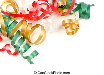 colorful ribbon - colorful festive curled up ribbon good for...