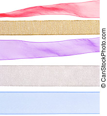 colorful ribbon textures for decorating