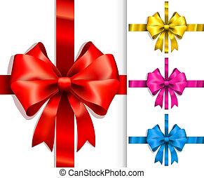 Colorful ribbons and bows - Vector Colorful ribbons and bows...
