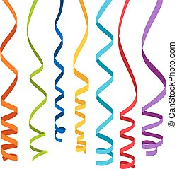 Colorful ribbons for decoration