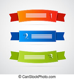 Colorful Ribbons, Labels Set
