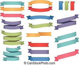 Colorful Ribbons Template