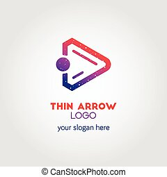 Colorful Right Arrow Business Logo Template Using Double...