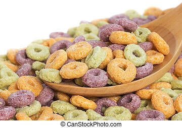 Colorful ring cereals