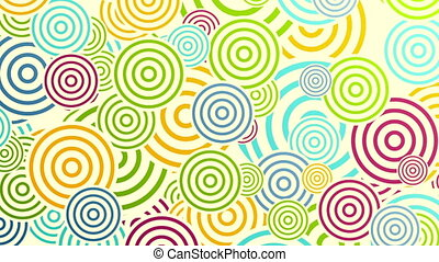 Colorful rings or circles abstract video animation