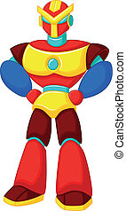 Colorful robot cartoon - Vector illustration of Colorful...