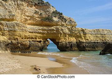 Colorful rock cliffs