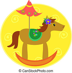 Colorful Rocking Horse