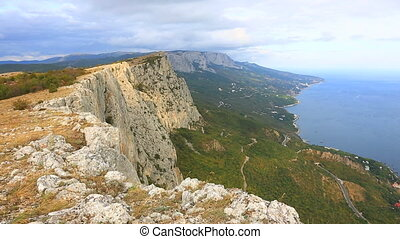 Colorful rocks in Crimea - Mountain landscape in Crimea.