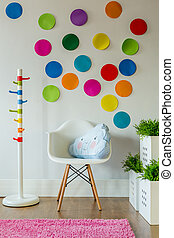 Colorful room for a child