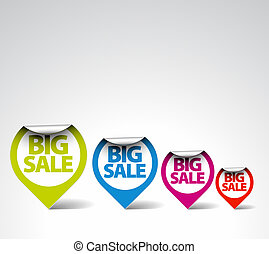 Colorful Round Labels / stickers
