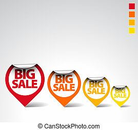 Colorful Round Sale Labels